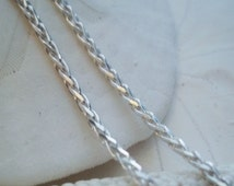 """16"""" Chain: Solid 925 Sterling Silver, Diamond Cut Wheat Chain 1.5 mm thick, with an 11 mm Lobster Clasp- Pendant Chain"""