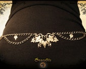 Elven Medieval Belt Women Leaf - Handmade medieval jewelry with swarovski