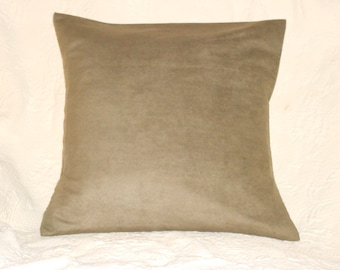 Faux Suede Pillow Cover