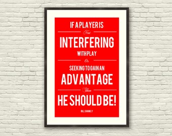 Shankly Quote : Liverpool FC - Soccer Football Poster Print (A3)