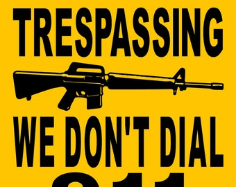 "NO TRESPASSING SIGN  9""x12"" ""Aluminum"" 3319CR"