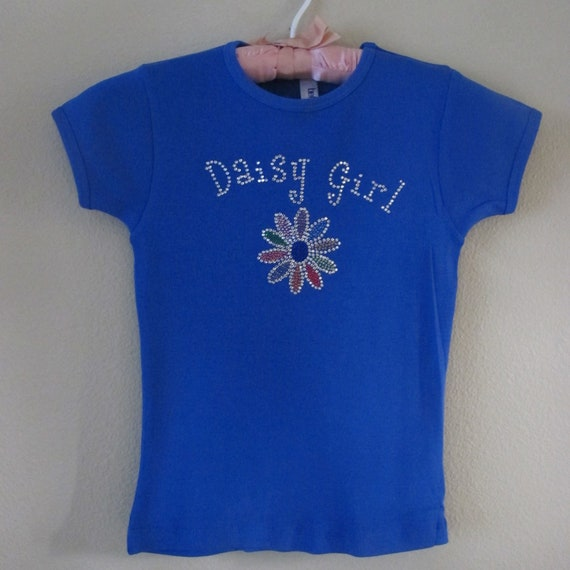 Items similar to daisy girl scout bling shirt on etsy for Selling shirts on etsy