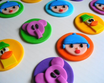 POCOYO Inspired Fondant Cupcake Toppers