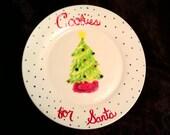 Santa's Cookies Hand-Painted Plate