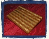 """Poplar & Red Oak End-Grain Cutting Board.  A """"must-have"""" for the kitchen."""