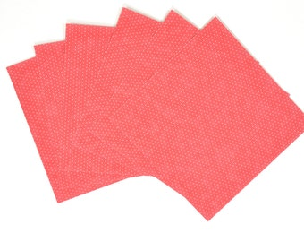 coral paper napkins