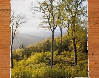 Pennsylvania Landscape 6x6 inch giclee fine art photography print with torn edge