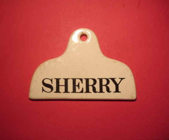 An Antique Wine Cellar Label Marked Sherry