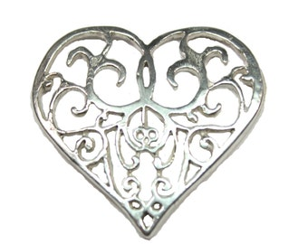 Sterling Silver  Heart Scandinavian Viking  Pendant