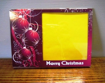 Christmas Picture Frame - Red Ornaments