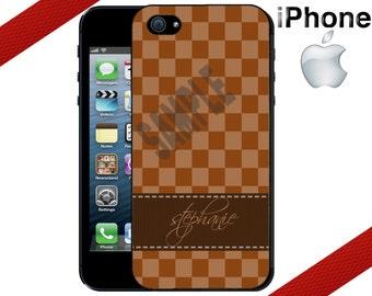 iPhone 6 6 Plus Case -  iPhone 5S Case - iPhone 4 Case, Checkered iPhone Case, Personalized iPhone 5 Case, - iPhone 5C Case