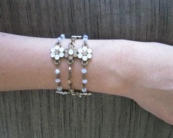 Opal and Topaz crystal bracelet, Wedding jewelry, Swarovski crystal jewelry,Bridesmaids gift, Bridesmaid gift, woman, Friend,Sister/Mom.