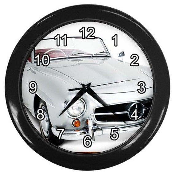 Classic mercedes benz black wall clock home decor office gift for Mercedes benz clock