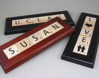 Four Personalized Scrabble Coasters Made To Order