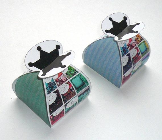 Diy Christmas Favor Boxes : Christmas comic favor box diy printable by fredafprintables