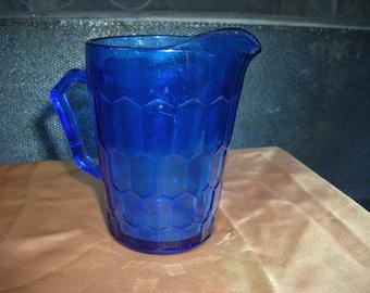 Small Cobalt Blue Glass Pitcher