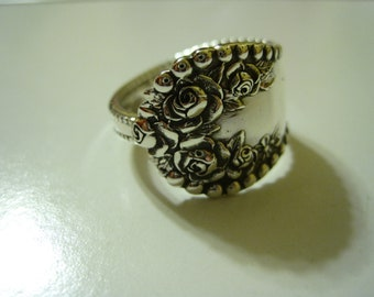 Flowered Sterling Spoon Ring