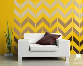 Chevron Pattern Wall Decals  - Vinyl Art Stickers