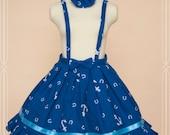 Blue Apple-BJD DD rosette MDD skirt