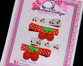 Cherry Barrette set