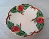 1880's MAJOLICA Choisy De Roi PLATE with APPLE Motif Made in France