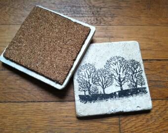 Tree Coasters - Set of 4