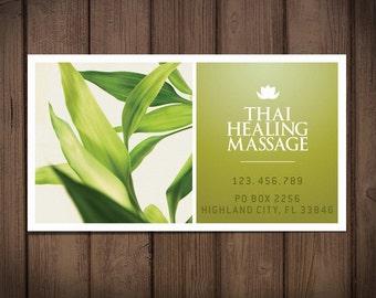 Premade business card template / retro printable card /