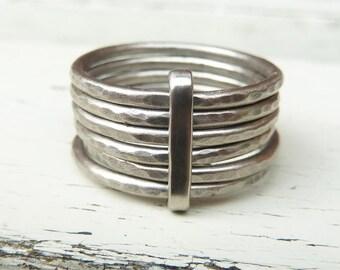 Palladium stacking ring, palladium wedding ring