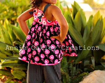 Darlene Top/Tunic or Dress - pdf pattern - 3m - 12y