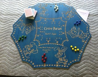 Critter Pursuit A New Card & Marble Wooden Board Game inspired by Peg - Joker