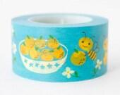 Busy Bee Washi Masking Tape - Japanese Washi Tape - Cute Washi Tape - Kids Washi Tape - Gift Wrap Tape - Kawaii Washi Tape - Fun Tape