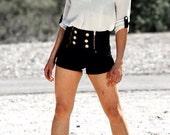 High Waisted Skipper Shorts - LePoshNoir
