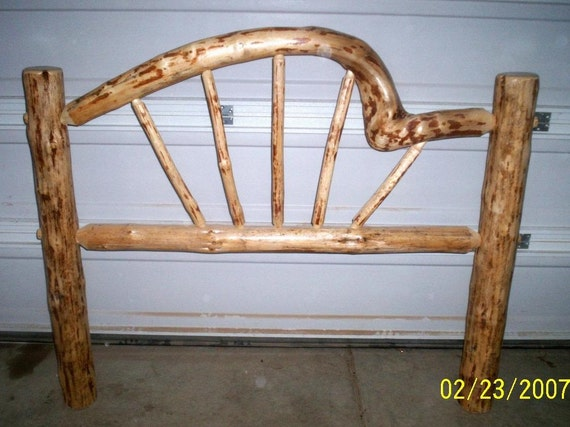 Queen Size Rustic Snowbend Style Pine Log By