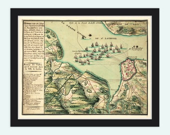 Map of Quebec City, Canada 1670