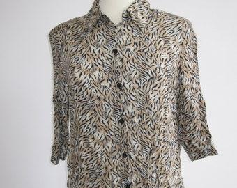 Vintage Leopard Print Shirt