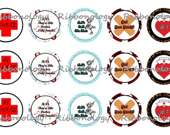 1 Inch RN Bottle Cap Graphics 4x6 15 Images Per Sheet