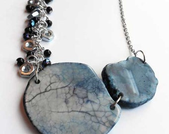 Stone and Hex Nut Necklace