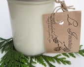 Northwest Woods Soy Candle, Organic Candles, Aromatherapy Candles