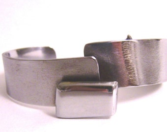 Metal Bracelet Cuff Made from Recycled Stainless Steel