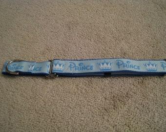 "1"" Light Blue Prince Martingale collar"