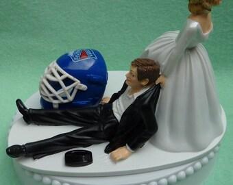 Wedding Cake Topper New York Rangers NY Hockey Themed Ball and