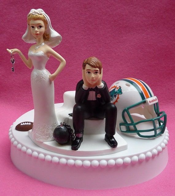 miami dolphin wedding cake toppers wedding cake topper miami dolphins football themed by 17330