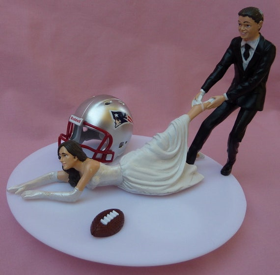 Wedding Cake Topper New England Patriots G Football By WedSet