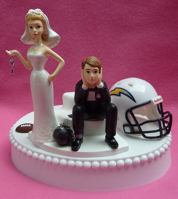 San Diego Chargers Cake: Wedding Cake Topper San Diego Chargers SD Football Themed Ball
