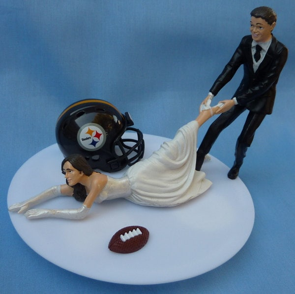 wedding cake toppers pittsburgh pa wedding cake topper pittsburgh steelers g football themed w 26582