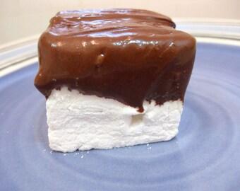 Vanilla Bean Marshmallows Dipped in Chocolate - 1 dozen fair trade Gourmet homemade chocolate covered marshmallows