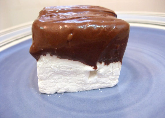 Vanilla Bean Marshmallows Dipped in Chocolate - 1 dozen fair trade ...