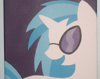 Vinyl Scratch painted canvas