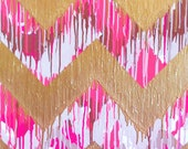 Shirin Custom Chevron Painting 24x36