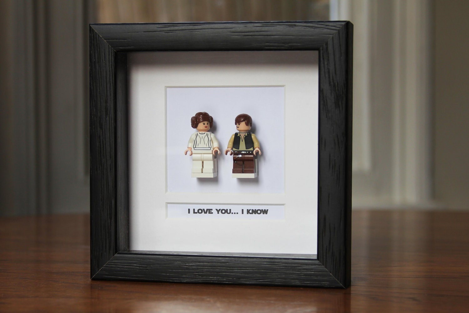 Star Wars Framed Mini Figures Han Amp Leia Made From Lego